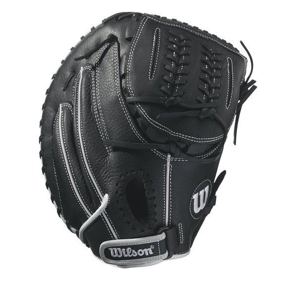 Wilson Onyx Black Leather 33-inch Fastpitch Right Handed Softball Catcher's Mitt
