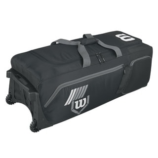 Wilson Pudge 2.0 Black Baseball Bag on Wheels