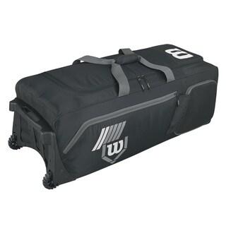Wilson Pudge 2.0 Black Baseball Bag on Wheels