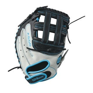Wilson Aura Fastpitch Grey Leather 33-inch Softball Catcher's Right-handed Mitt
