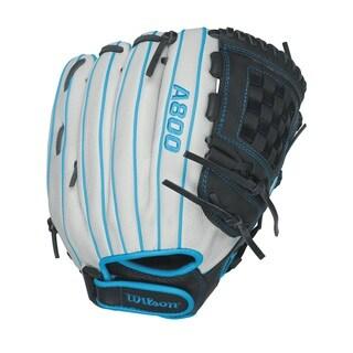 Wilson A800 Aura Fastpitch Grey Leather 12-inch Pitcher/Infielder Softball Glove