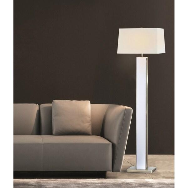Bounded 1-Light Brass Floor Lamp