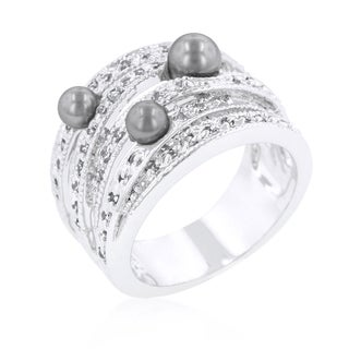 Grey Pearl Cocktail Ring
