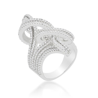 Micro-pave-set CZ Knot Ring