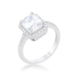 Link to Ariana Rhodium 2.95ct CZ Classic Ring Similar Items in Rings
