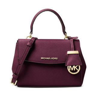 Michael Kors Ava Plum Plum Saffiano Leather Extra-small Crossbody Handbag