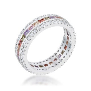 Paula Multicolor Cubic Zirconia Classic Band Ring