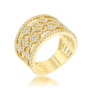 Link to Marlene 14k Gold 0.6ct CZ Wide Band Cocktail Ring Similar Items in Rings