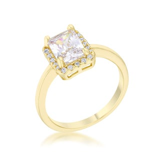 Mariane 14k Gold Plated CZ Classic Ring