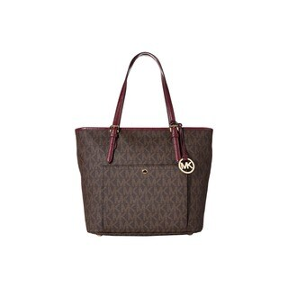 Michael Kors Jet Set Brown Leather Tote Bag