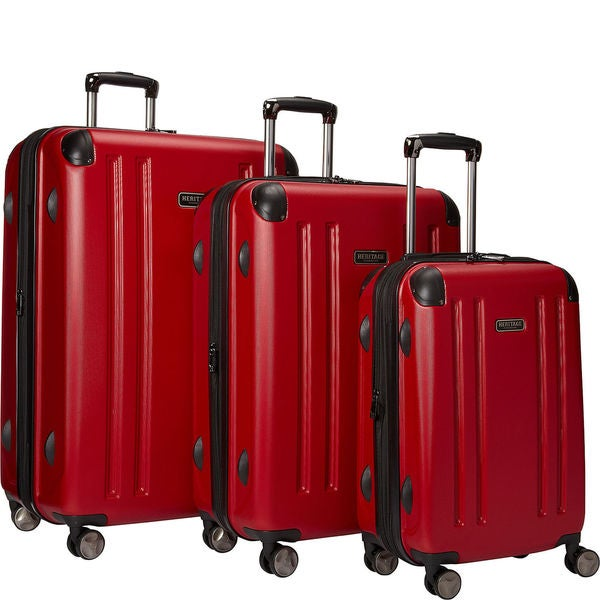 Heritage O' Hare 3-piece Expandable Hardside 8-wheel Spinner Luggage Set