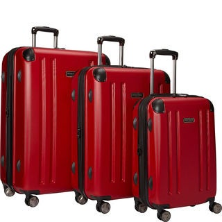 Heritage O'Hare 3-piece Expandable Hardside 8-wheel Spinner Luggage Set