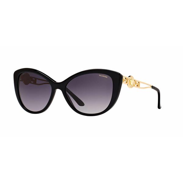 bb9563bc9554 Shop Versace Women VE4295 GB1 T3 Black Metal Cat Eye Sunglasses - Free  Shipping Today - Overstock - 13331483