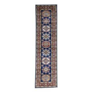 Hand-knotted Tribal Design Runner Super Kazak Oriental Rug (2'6 x 9'8)