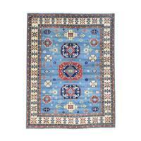 Hand-knotted Wool Kazak Tribal Design Oriental Rug (9'9 x 12'10)