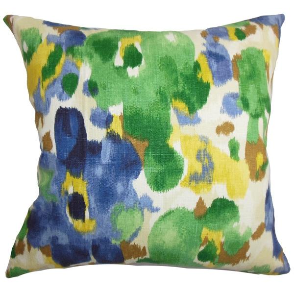 Delyne Floral Euro Sham Green Blue