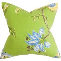 Xois Floral Euro Sham Green