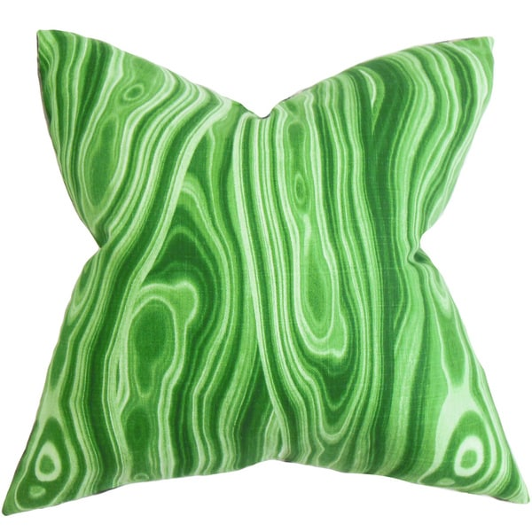 Zoia Geometric Euro Sham Green