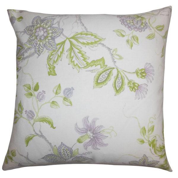 Ululani Floral Euro Sham Purple White