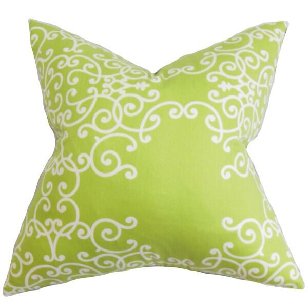 Fianna Floral Euro Sham Green White