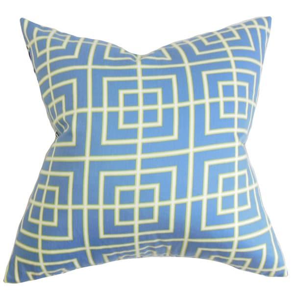 Helmut Geometric Euro Sham Blue