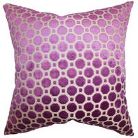 Kostya Geometric Euro Sham Purple