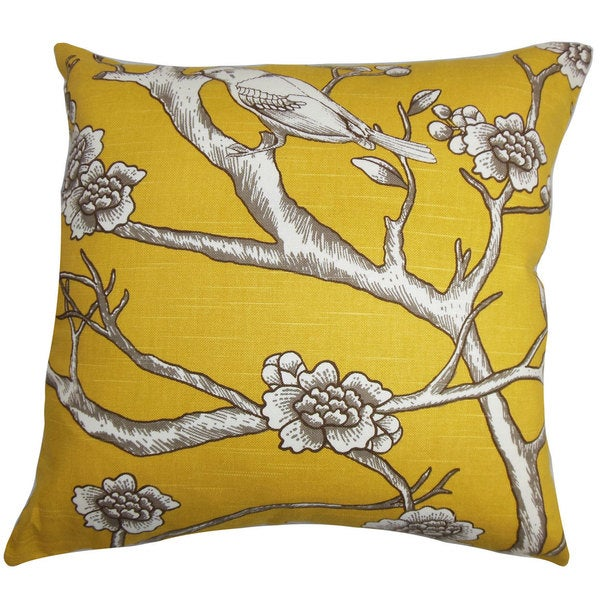 Tadita Floral Euro Sham Yellow Brown