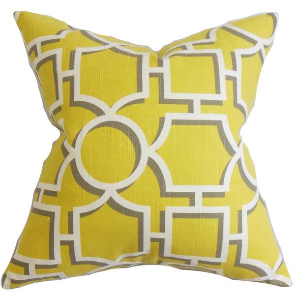 Ono Geometric Euro Sham Yellow