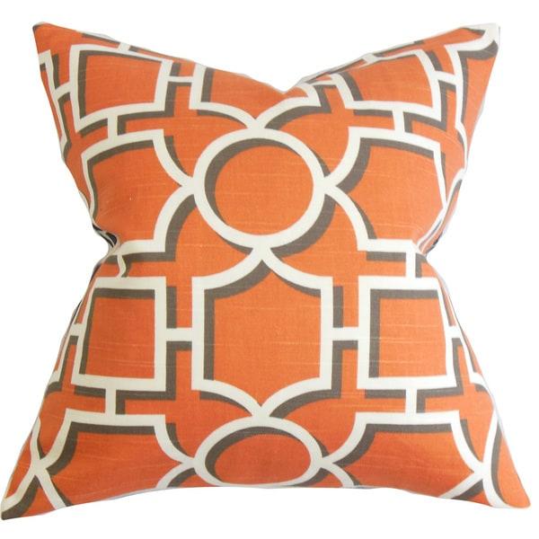 Ono Geometric Euro Sham Orange