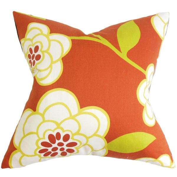 Junot Floral Euro Sham Orange