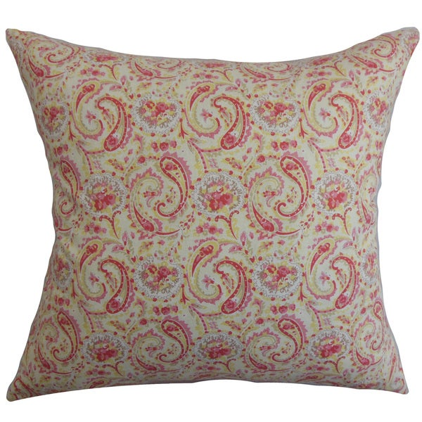 Neci Floral Euro Sham Red Natural