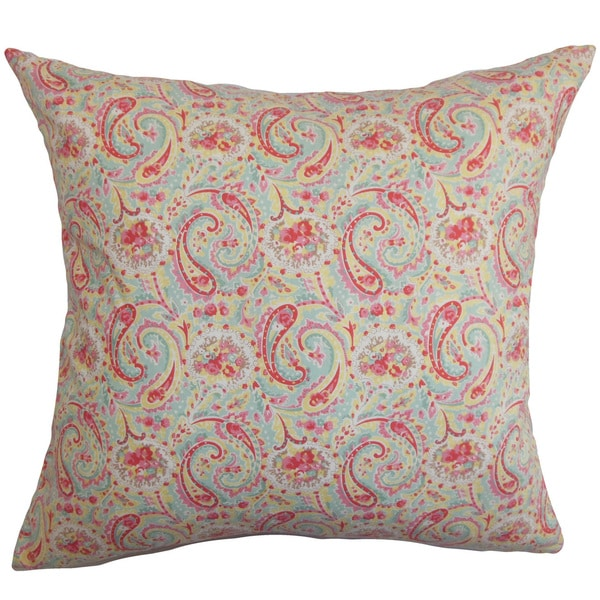 Neci Floral Euro Sham Red Blue