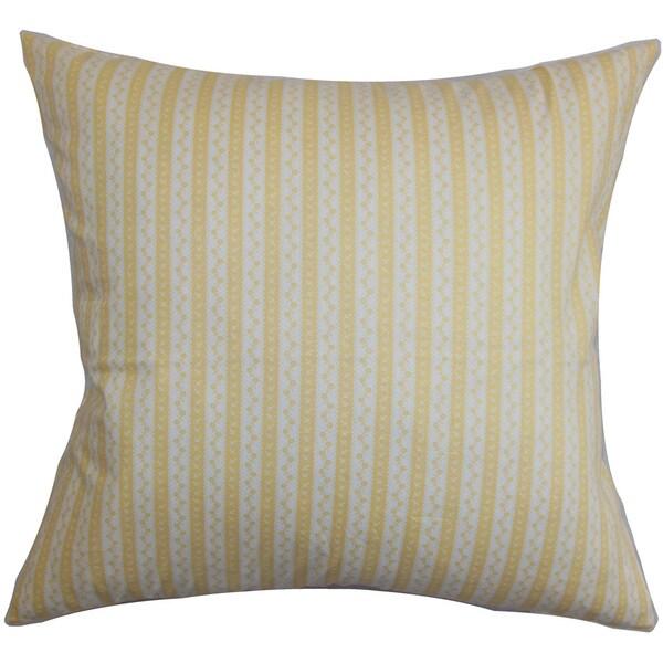 Quoba Stripes Euro Sham Yellow