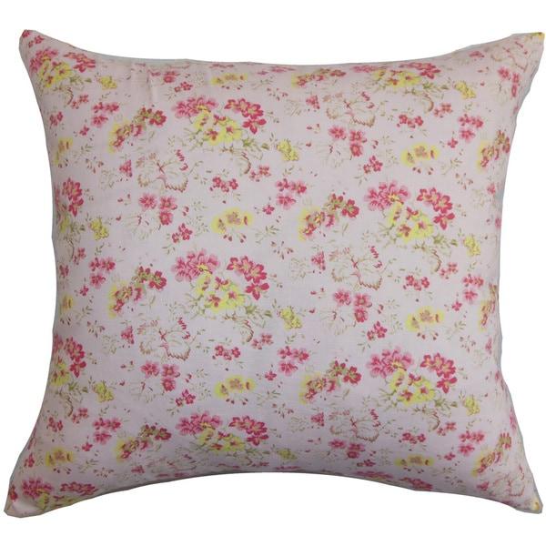 Wyanet Floral Euro Sham Pink