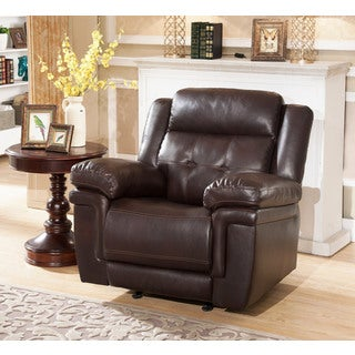 Abbyson Carly Leather Recliner