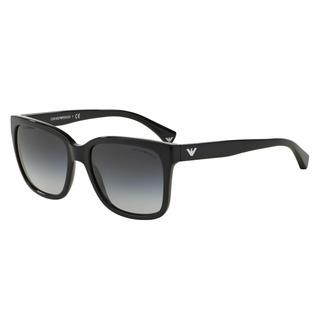 Emporio Armani Women EA4042F 50178G Black Plastic Square Sunglasses