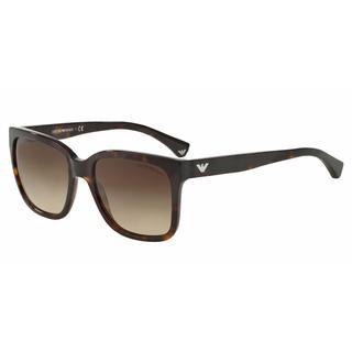 Emporio Armani Women EA4042F 502613 Havana Plastic Square Sunglasses
