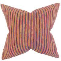 Qiturah Stripes Euro Sham Pink