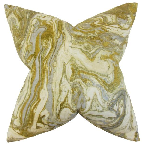 Ceylon Geometric Euro Sham Gold Silver