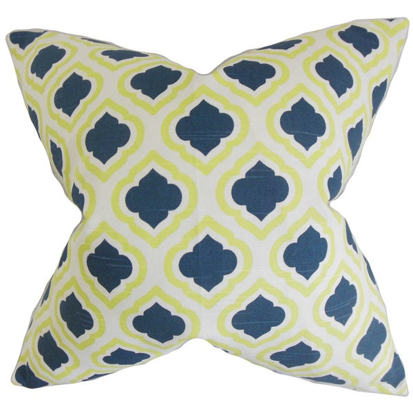 Abijah Geometric Euro Sham Yellow Blue