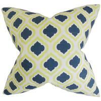 Abijah Geometric Euro Sham Yellow Blue