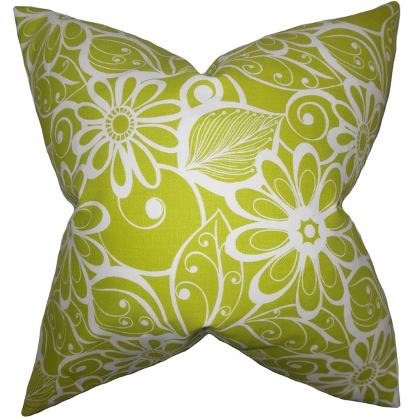 Isaline Floral Euro Sham Green