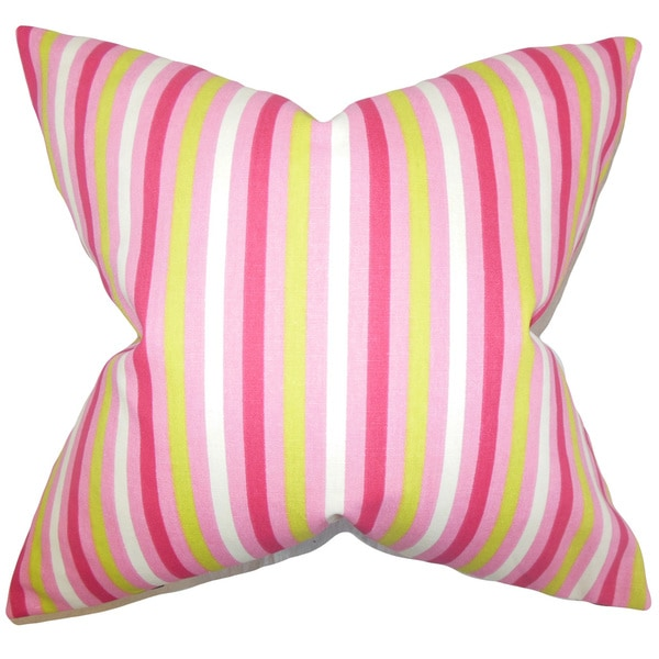 Keyla Stripes Euro Sham Pink