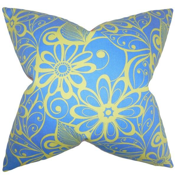 Mehira Floral Euro Sham Blue