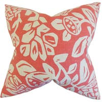 Izzy Foral Euro Sham Coral