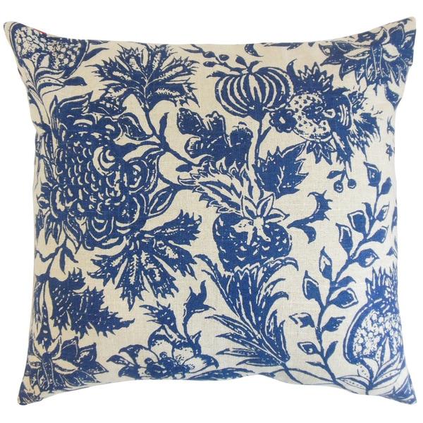 Bionda Floral Euro Sham Blue