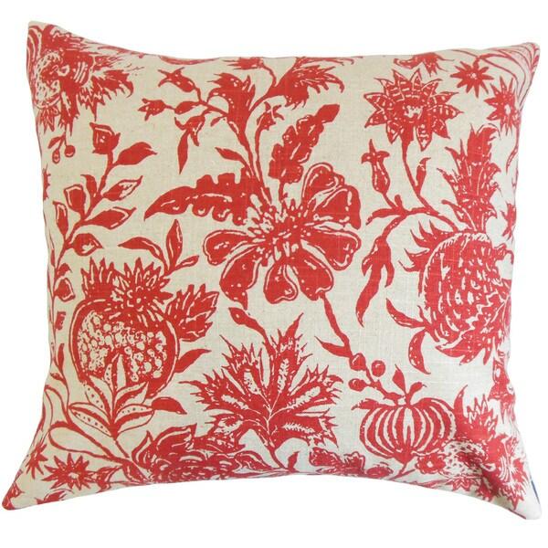 Bionda Floral Euro Sham Red