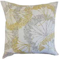 Grove Floral Euro Sham Yellow