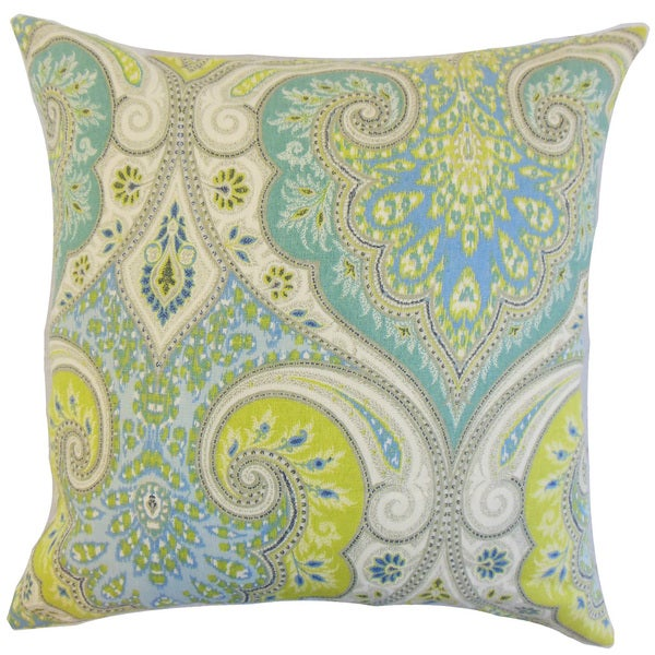 Kirrily Damask Euro Sham Pool