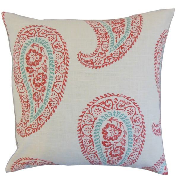 Neith Geometric Euro Sham Coral